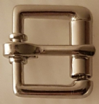 "12.5 mm wide (½"") Roller Buckle Nickel Plated Light"